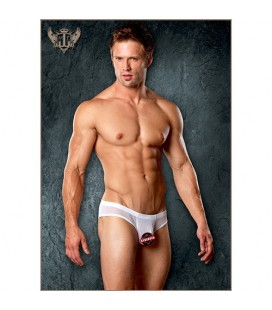 SLIP SHIRRED POUCH MANTY MALE POWER BLANCO