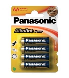 4 PILAS AA ALCALINAS PANASONIC
