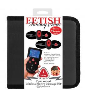 PROFESSIONAL WIRELESS ELECTRO-MASSAGE KIT FETISH FANTASY SHOCK THERAPY