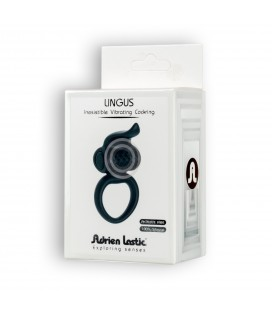 ADRIEN LASTIC LINGUS VIBRATING COCKRING BLACK