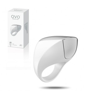 OVO A1 RECHARGEABLE PENIS RING WHITE