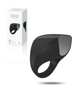 OVO A1 RECHARGEABLE PENIS RING BLACK