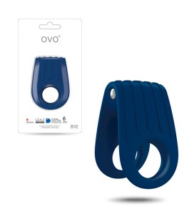 OVO B12 DOUBLE PENIS RING BLUE