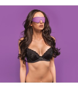 OUCH! REVERSIBLE EYE MASK PURPLE AND BLACK
