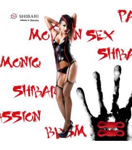 DEMONIQ SHIBARI PACK CORSET EMI BLACK