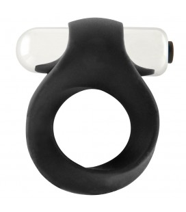 INFINITY SINGLE VIBRATING COCKRING BLACK