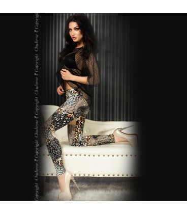 LEGGINGS CR-3456 BEIGE Y NEGROS