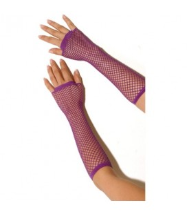 FISHNET GLOVES PURPLE