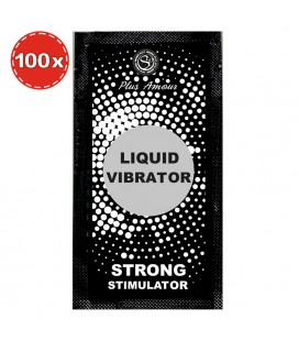 PACK GEL LIQUID VIBRATOR STRONG 100 x 2ML