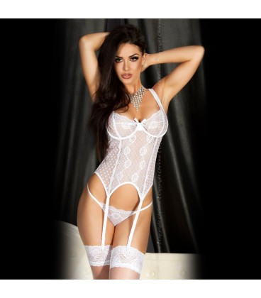CORSET AND STRING CR-3462 WHITE