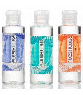 PACK WITH 3 FLESHLUBE WATER BASED LUBRICANTS 100ML