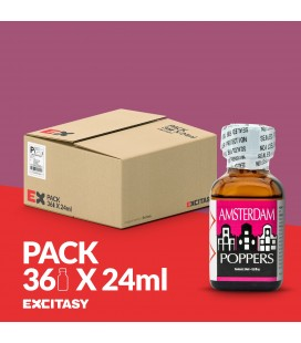 PACK CON 36 AMSTERDAM POPPERS 24ML