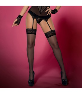 OBSESSIVE PICANTINA THIGH HIGHS BLACK