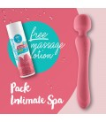 PACK INTIMATE SPA FLOWING STRAWBERRY MASSAGER + FREE MASSAGE LOTION