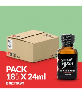 PACK WITH 18 SUPER RUSH BLACK LABEL 24ML