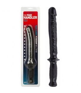 MANHANDLER DILDO WITH HANDLE BLACK