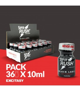 PACK WITH 36 SUPER RUSH BLACK LABEL 10ML