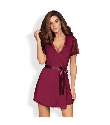 OBSESSIVE MIAMOR ROBE AND THONG RUBY