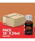 PACK WITH 18 MAN SCENT 24ML