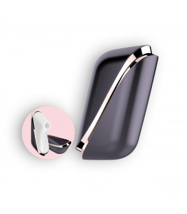 SATISFYER PRO TRAVELER CLITORIAL STIMULATOR WITH VIBRATION AND USB CHARGER