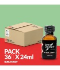 PACK COM 36 SUPER RUSH BLACK LABEL 24ML