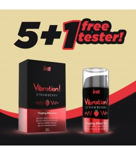 PACK 5 + 1 TESTER INTT VIBRATION STRAWBERRY GEL 15ML