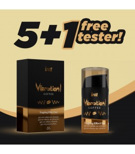 PACK 5 + 1 TESTER INTT VIBRATION COFFEE GEL 15ML