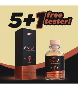 PACK 5 + 1 TESTER INTT APEROL FLAVOURED MASSAGE GEL 30ML