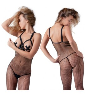 BODYSTOCKING DE RED SIN COPAS NEGRO