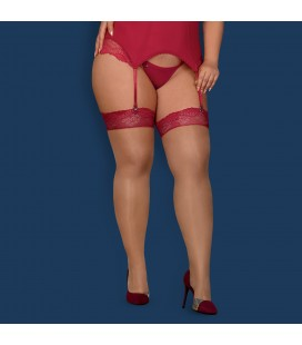 QUEEN SIZE OBSESSIVE ROSALYNE STOCKINGS RED