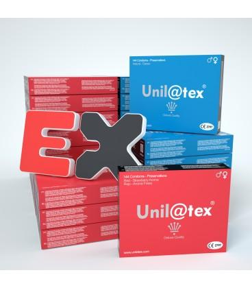MIX OF 50 BOXES OF 144 CONDOMS UNILATEX