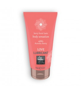 SHIATSU™ EDIBLE LOVE BERRY BOOST LUBRICANT WITH ACEROLA AND CHERRY FLAVOUR 75ML