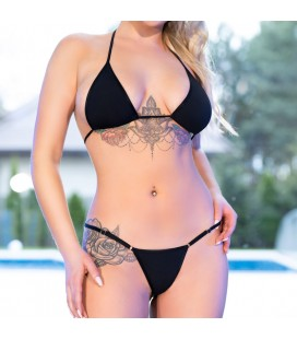 CR-4381 MINI BIKINI BLACK