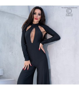 CR-4328 JUMPSUIT BLACK