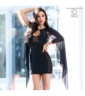 CR-4329 COCKTAIL DRESS BLACK
