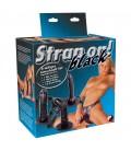 STRAP-ON COM 3 DILDOS PRETOS