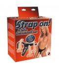 STRAP-ON COM 3 DILDOS BRANCOS