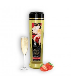 SHUNGA MASSAGE OIL ROMANCE SPARKLING STRAWBERRY WINE 240ML