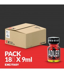 PACK WITH 18 ADLER POPPERS 9ML