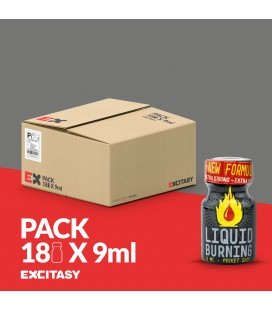 PACK WITH 18 LIQUID BURNING 9ML