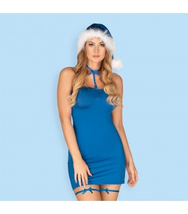 OBSESSIVE KISSMAS RED DRESS BLUE