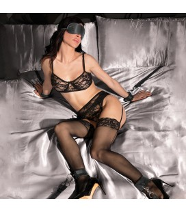 KIT DE RESTRICCIÓN UNDER THE BED BINDING RESTRAINT KIT OUCH! NEGRO