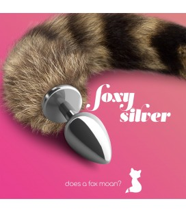 FOXY SILVER METAL ANAL PLUG WITH TAIL CRUSHIOUS