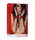 OUCH! VELCRO HANDCUFFS RED