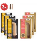 PACK WITH 3 BROWN AND 3 WHITE NATURAL FEELING G-SPOT VIBRATORS