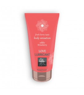 SHIATSU™ EDIBLE STRAWBERRY FLAVOURED LOVE LUBRICANT 75ML