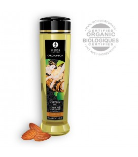 SHUNGA ORGANICA KISSABLE MASSAGE OIL SWEET ALMOND 240ML