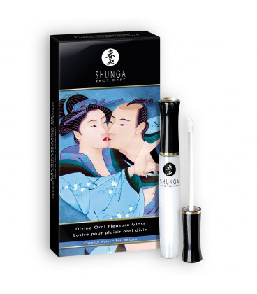 12 PACK SHUNGA DIVINE ORAL PLEASURE GLOSS COCONUT 10ML