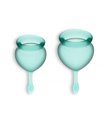 FEEL GOOD 2 MENSTRUAL CUPS SET SATISFYER DARK GREEN