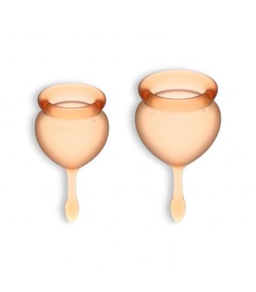 FEEL GOOD 2 MENSTRUAL CUPS SET SATISFYER ORANGE